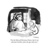 """""""I'm the Ghost of Christmas Future, but it's an alternate timeline where t…"""" - Cartoon Premium Giclee Print by Benjamin Schwartz"""