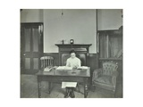 Female Student Sitting at Desk, Shoreditch Technical Institute, London, 1907 Photographic Print