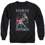 Crewneck Sweatshirt: Batman vs. Superman- Split Heroes T-Shirt