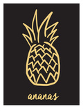 Ananas Black & Gold Art by  The Glass Mountain