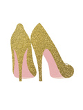 Gold Shoes Poster di  Peach & Gold