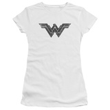 Juniors: Batman vs. Superman- Wonder Woman Black Logo T-shirts