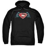 Hoodie: Batman vs. Superman- Industrial Logo Pullover Hoodie