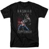 Batman vs. Superman- Split Heroes Shirts