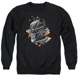 Crewneck Sweatshirt: Batman vs. Superman- Fractal Bat Head T-shirts
