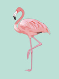 Pink Flamingo Prints by  Peach & Gold