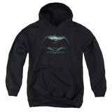 Youth Hoodie: Batman vs. Superman- Movie Logo Pullover Hoodie