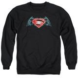 Crewneck Sweatshirt: Batman vs. Superman- Industrial Logo T-shirts