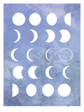 Moon Phases Purple Posters by  The Glass Mountain