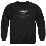 Crewneck Sweatshirt: Batman vs. Superman- Black & White Logo T-shirts