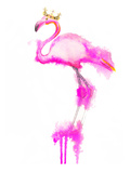 Flamingo Crown Print Prints by  Alison B Illustrations