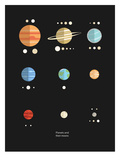 Planets Moons Posters by  The Glass Mountain