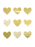 Gold Hearts Prints by  Peach & Gold