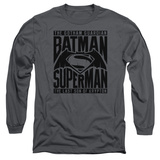 Long Sleeve: Batman vs. Superman- Title Fight T-shirts