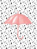 Pink Umbrella on Polka Dots Reprodukcje autor Peach & Gold