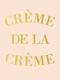 Creme de la Creme Gicléedruk van  Peach & Gold