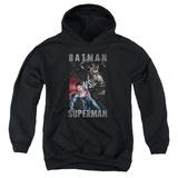 Youth Hoodie: Batman vs. Superman- Split Heroes Pullover Hoodie