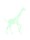 Mint Giraffe Stampe di  Peach & Gold