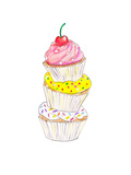Cupcakes Art by  Alison B Illustrations