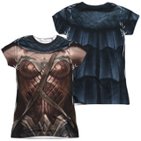Juniors: Batman vs. Superman- Wonder Woman Uniform Costume (Front/Back) T-shirts