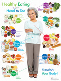 Older Adult Healthy Eating From Head To Toe Poster Posters