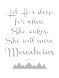 Let Her Sleep Mountains Gray Posters by Amy Brinkman