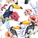 Tropics, Pattern, Toucan Print by  Zenina