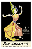 Bangkok, Thailand - Pan American Airlines (PAA) - Thai Woman Classical Dancer Posters by A. Amspoker