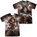 Batman vs. Superman- Backlit Wonder Woman (Front/Back) T-shirts