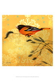 Oriole & Cartouche I Posters by Evelia Designs