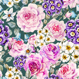 Raster Floral Pattern Prints by  Zenina