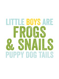 Little Boys Are Blue Green Prints by Amy Brinkman