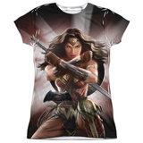 Juniors: Batman vs. Superman- Backlit Wonder Woman T-Shirt