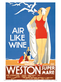 Air Like Wine - Weston Super Mare Railway Station Posters by William A. Sennett