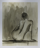 Sumi-e Figure II Premium Giclee Print by Ethan Harper