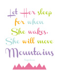 Let Her Sleep Mountains Multi Prints by Amy Brinkman