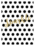 Sparkle Gold Glitter Dots Posters by Amy Brinkman