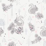 Seamless Pattern with Squirrels Prints by Tatsiana Tsyhanova