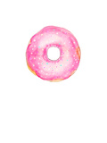 Pink Doughnut Print by  Alison B Illustrations