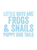 Little Boys Are Light Blue Print by Amy Brinkman