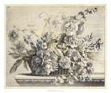 Vintage Basket of Flowers II Giclee Print by Giovanni Baptiste