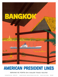 Bangkok Thailand - American President Lines Posters by J. Clift