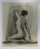 Sumi-e Figure I Premium Giclee Print by Ethan Harper