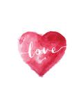 Love Heart Cursive Plakater af Brett Wilson