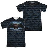 Batman vs. Superman- Tiled Logos (Front/Back) T-Shirt