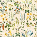 Seamless Pattern of Little Different Flowers in Shabby Chic Style Premium Giclee Print by Tatsiana Tsyhanova