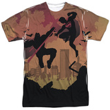 Batman vs. Superman- Silhouette Fight Shirt