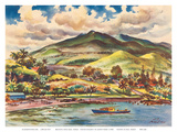 Beautiful Hana - The Island of Maui - Hawaii, USA - United Air Lines Prints by Joseph Fehér