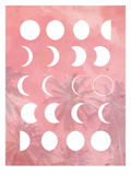 Moon Phases Pink Posters by  The Glass Mountain