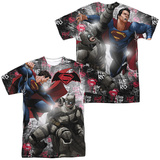 Batman vs. Superman- Showdown (Front/Back) T-shirts